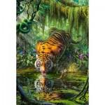 Puzzle  Castorland-103935 Tigre dans la Jungle