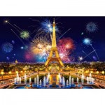 Puzzle  Castorland-103997 Glamour of the Night, Paris