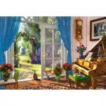 Puzzle  Castorland-104079 Doorway Room View