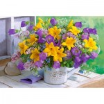 Puzzle  Castorland-104642 Flowers & Garden