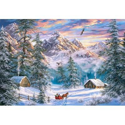 Puzzle Castorland-104680 Mountain Christmas