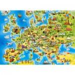 Puzzle  Castorland-111060 Carte d'Europe