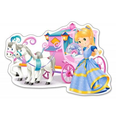 Puzzle Castorland-120017 Pièces XXL - Carrosse de Princesse