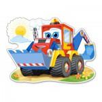 Puzzle  Castorland-120024 Pièces XXL - Bulldozer Joyeux