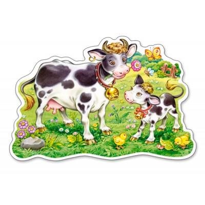 Puzzle Castorland-120062 Pièces XXL - Vaches dans le Champ