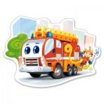 Puzzle  Castorland-120109 Pièces XXL - Camion de Pompier