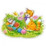 Puzzle  Castorland-120123 Pièces XXL - Famille de Chats