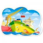 Puzzle  Castorland-120130 Pièces XXL - Un Journée au Port