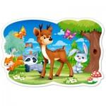 Puzzle  Castorland-120154 Pièces XXL - Animaux de la Forêt