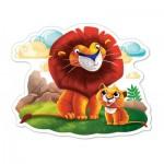 Puzzle  Castorland-120161 Pièces XXL - Lions