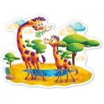 Puzzle  Castorland-120178 Pièces XXL - Girafes dans la Savane