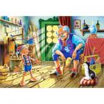 Puzzle  Castorland-12787 Pinocchio et Gepetto