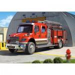 Puzzle  Castorland-12831 Camion de Pompier