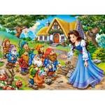 Puzzle  Castorland-13401 Blanche Neige et les 7 Nains