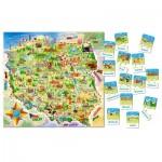 Puzzle  Castorland-142 Carte de la Pologne