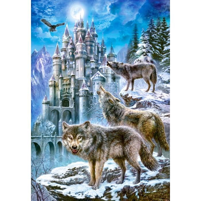 Loups devant le Château