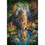 Puzzle  Castorland-151707 Loup dans la Forêt