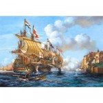 Puzzle  Castorland-200245 Bataille navale de Porto Bello 1739