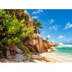 Puzzle  Castorland-200665 Plage Paradisiaque des Seychelles