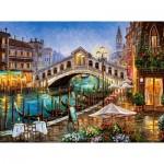 Puzzle  Castorland-200689 Grand Canal Bistro, Venise