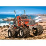 Puzzle  Castorland-222100 Monster Truck on the Rocky Coast