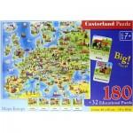 Puzzle  Castorland-227 Carte de l'Europe