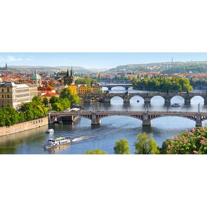 République Tchèque, Prague : Pont Vltava