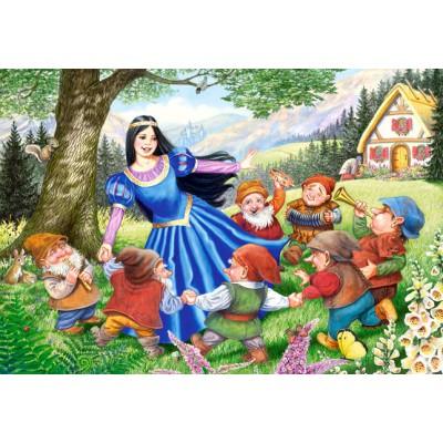 Castorland-40049 Maxi Puzzle : Blanche neige et les septs nains