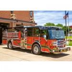 Puzzle  Castorland-52660 Camion de Pompier