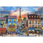 Puzzle  Castorland-52684 Dominic Davison : Rue de Paris