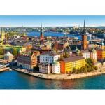 Puzzle  Castorland-52790 Vieille Ville de Stockholm, Suède