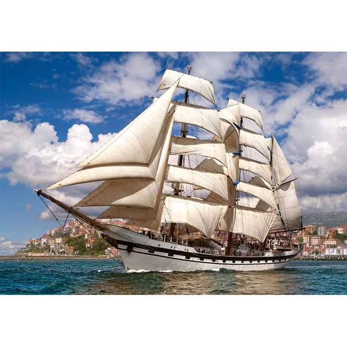 Tall Ship Leaving Harbour