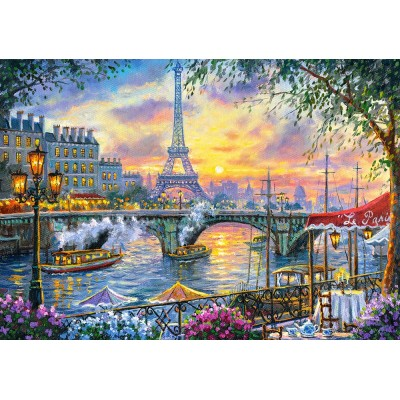 Puzzle Castorland-53018 Tea Time in Paris