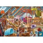 Puzzle  Castorland-53407 Le Grenier Encombré