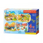 Castorland-B-043019 4 Puzzles - 4 Saisons