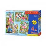 Puzzle  Castorland-B-04423 Blanche Neige et les Sept Nains