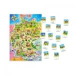 Puzzle  Castorland-E-180 Pièces XXL - Carte de l'Allemagne