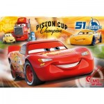 Puzzle  Clementoni-07438 Pièces XXL - Cars