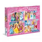 Clementoni-07721 4 Puzzles - Disney Princesses