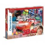 Puzzle  Clementoni-20044 Effet 3D - Cars