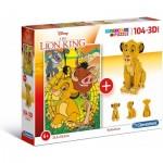 Clementoni-20158 The Lion King (Puzzle + Modèle 3D)
