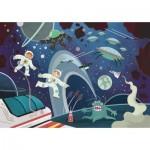 Puzzle  Clementoni-20166 Supercolor Space Odyssey - Effet Paillettes