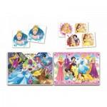 Puzzle  Clementoni-20208 Superkit Disney Princess - 2x30 Pièces + Memo + Domino