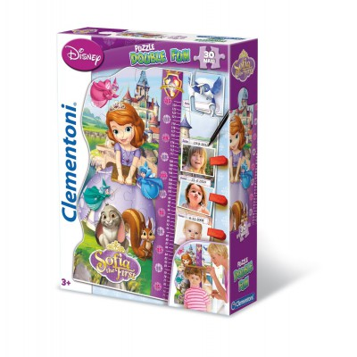 Clementoni-20308 Puzzle Double Fun - Princesse Sofia