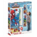 Clementoni-20337 Pièces XXL - Toise - Measure Me Puzzle - Super Heroes