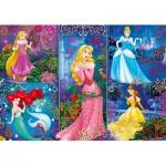 Puzzle  Clementoni-20609 Effet 3D - Disney Princess
