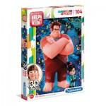 Puzzle  Clementoni-20610 3D Vision - Disney Ralph
