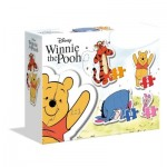 Clementoni-20820 My First Puzzle - Winnie L'Ourson (4 Puzzles)