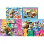 Clementoni-21407 44 Cats - 4 Puzzles Evolutifs (20/60/100/180 Pièces)