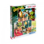 Puzzle  Clementoni-21614 Gigantosaurus - 2x60 Pièces